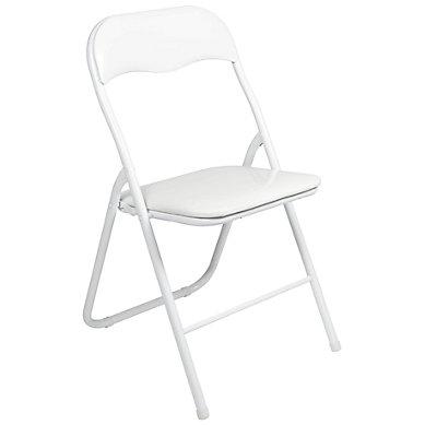 chaise blanche pliante gc v nementiel. Black Bedroom Furniture Sets. Home Design Ideas